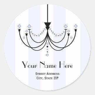 Crystal Chandelier Address Label Sticker