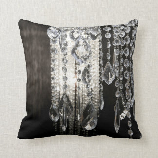 Crystal Chandelier Chic Glass Throw Couch Pillow