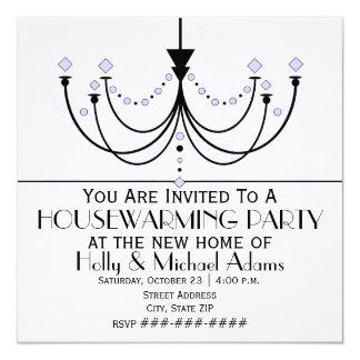Crystal Chandelier Housewarming Party Invitation