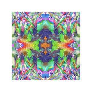 Crystal Colours Canvas Print