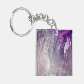 Crystal Core Abstract Key Ring