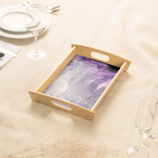 Crystal Core Abstract Serving Tray