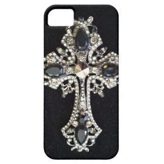 CRYSTAL CROSS BLACK VELVET PRINT iPhone 5 COVERS