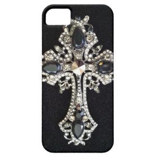 CRYSTAL CROSS BLACK VELVET PRINT iPhone 5 COVERS