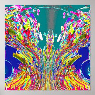 Crystal design digital Energy flow  Reiki Master Poster