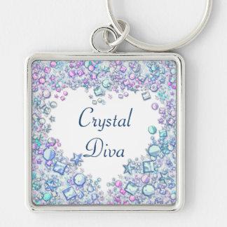 Crystal Diva Key Ring