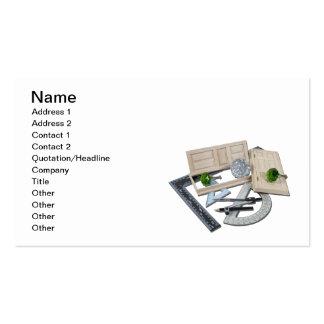 Crystal Doorknob Door Rulers Business Card Templates