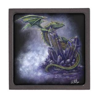 Crystal dragon fantasy art  keepsake gift box premium keepsake box