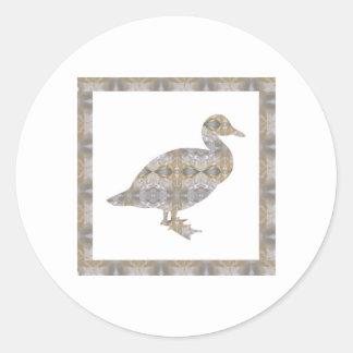 CRYSTAL DUCK BIRD DIY Template NVN430 LARGE kids Round Sticker