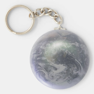 Crystal Earth Globe Keychain