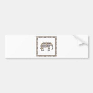 CRYSTAL Elephant DIY Template NVN447 LARGE kids Bumper Sticker