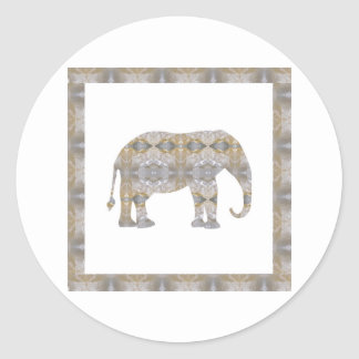 CRYSTAL Elephant DIY Template NVN447 LARGE kids Round Sticker