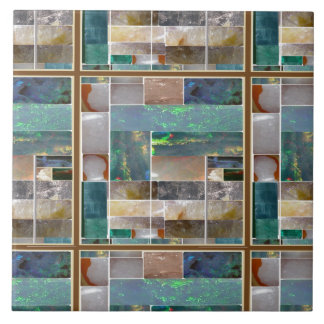 Crystal Embossed Squares pattern Artistic Graphic Large Square Tile
