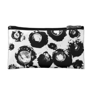 Crystal Eyes Black And White Abstract Art Cosmetic Bag