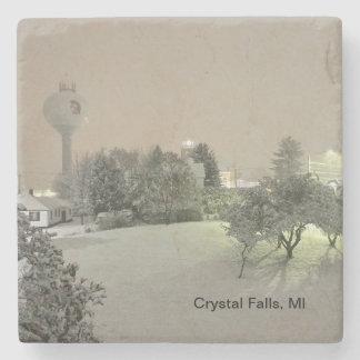 Crystal Falls, MI Marble Coasters