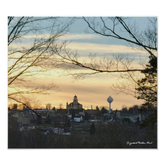 Crystal Falls, MI Skyline Poster
