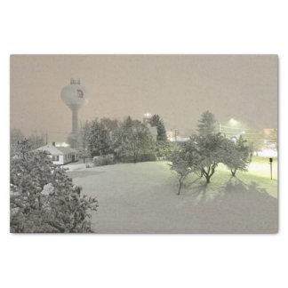 Crystal Falls, MI Winter Tissue Paper