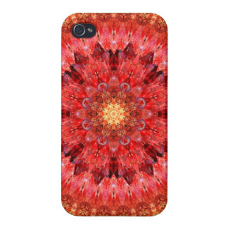 Crystal Fire Mandala Cover For iPhone 4