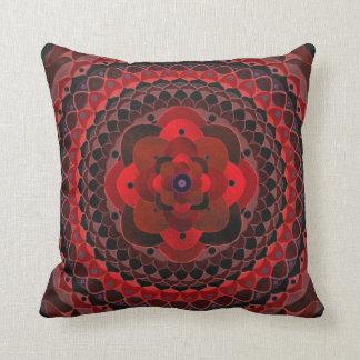Crystal flower mandala on pillow