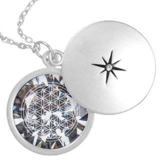 Crystal Flower of Life Mandala Necklace