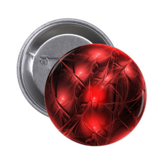 Crystal gazing red pinback buttons