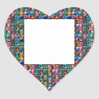 CRYSTAL GEM PEARL FRAME BLANKS : DIY 2014 HEART STICKER