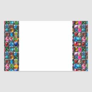 CRYSTAL GEM PEARL FRAME BLANKS : DIY 2014 RECTANGULAR STICKER