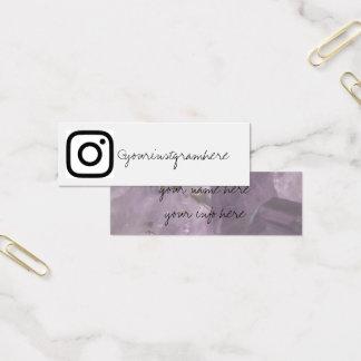 crystal geode social media modern business card