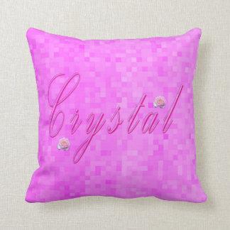 Crystal Girls Name Logo, Cushion