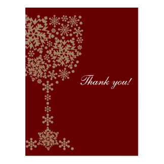 Crystal glass letter of thanks thank you card postcard