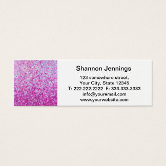 Crystal Glitter Artwork Mini Business Card