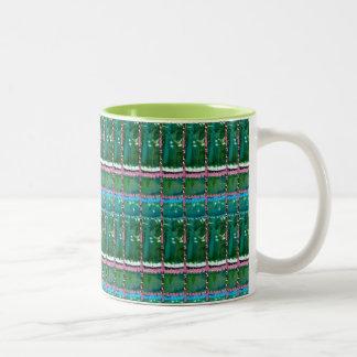 CRYSTAL Green Graphic Pattern Decoration GIFTS Coffee Mug