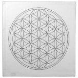 Crystal Grid Cloth - Flower Of Life Cloth Napkin