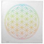 Crystal Grid Cloth - Flower Of Life Napkin