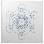 Crystal Grid Cloth - Metatron's Cube Cloth Napkin