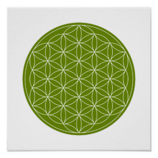 Crystal Grid - Flower Of Life Posters