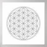 Crystal Grid - Flower Of Life Print