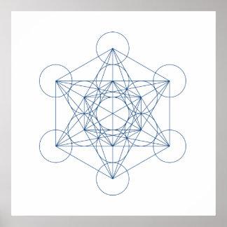Crystal Grid - Metatron's Cube Print