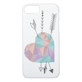 Crystal Heart and Arrows iPhone 7 Case