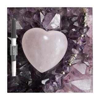 Crystal Heart Dry Erase Board