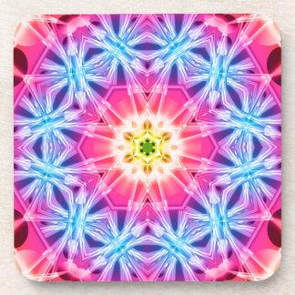 Crystal Hexagon Mandala Beverage Coaster