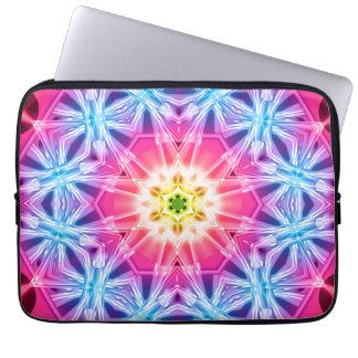 Crystal Hexagon Mandala Computer Sleeve