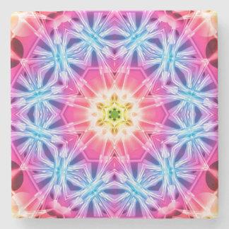 Crystal Hexagon Mandala Stone Coaster