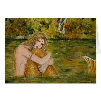 Crystal lake mermaid greeting card by Renee
