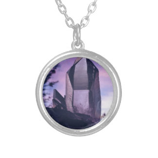 crystal lovers silver plated necklace