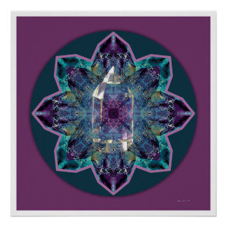 Crystal Mandala 3 Poster