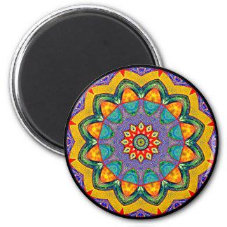 """Crystal Mandala Quilt"" Magnet"