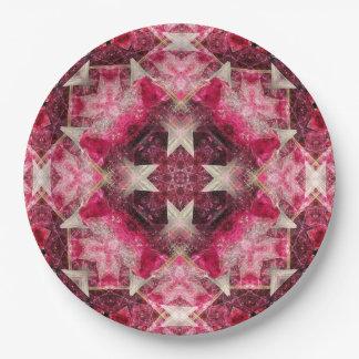 Crystal Matrix Mandala Paper Plate