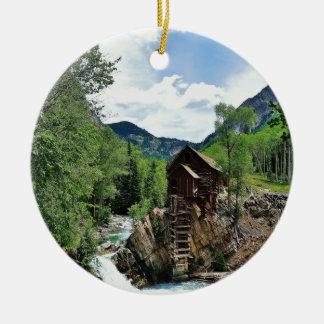 Crystal Mill Colorado Ceramic Ornament