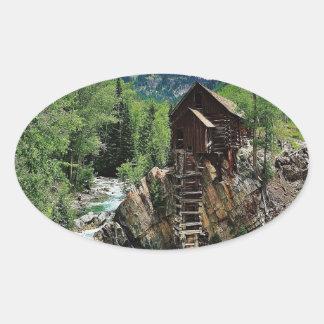 Crystal Mill Colorado Oval Sticker
